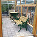 our new glasshouse bench and table