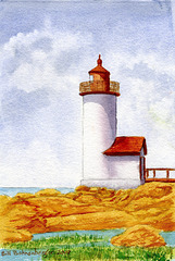 lighthouse 7.5x11in