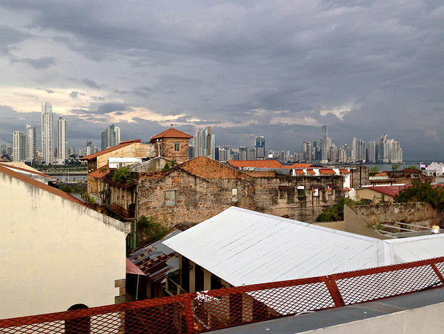 Roof top view of Panama City