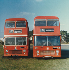 Eastern Counties TNG 365G and TEX 405R - Feb 1980