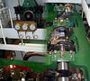 Dampfmaschine im Raddampfer (2 Fotos)