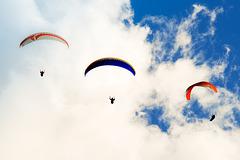 Three Hang Gliders