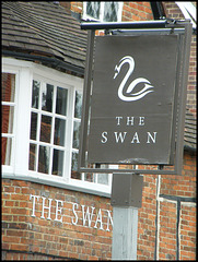 boring Swan pub sign