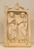 Grave Stele from Athens with Two Women in the National Archaeological Museum of Athens, May 2014