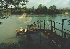 Embarcadère et carrelet, sur la Garonne...