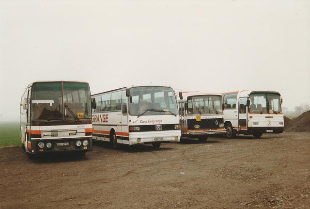 Cars Delgrange line-up at Oost Cappel - 25 Mar 1996