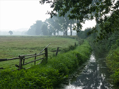 Moor Channel Fence in the Morning