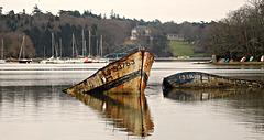 cimetière bateaux de Kerhervy,, (56)