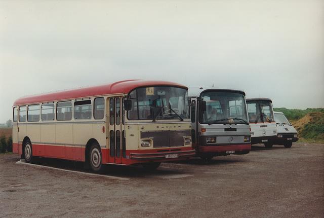 Cars Delgrange line-up at Oost Cappel - 28 Apr 1997
