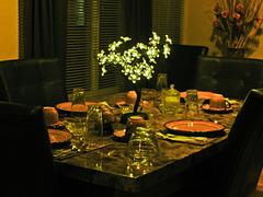 Ma table d'invités....
