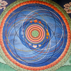 Cosmic mandala at Punakha Dzong