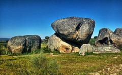 Formaciones graníticas en Los Barruecos