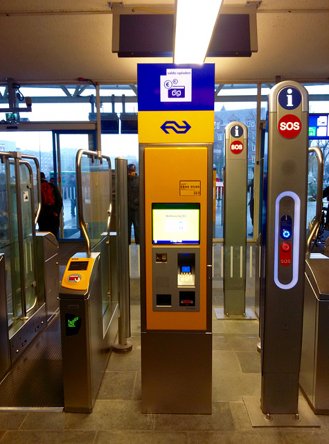 New top-up machine for a public transport card