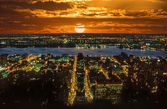 sunset from Empire State Building - 1986