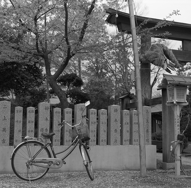 Bicycle by the shrine
