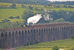 "LNER A3 Class 4-6-2 no 60103 ""Flying Scotsman"" on ""THE YORKSHIREMAN"" passes over Welland Viaduct ( the longest viaduct in the U.K ) ~  June 25th 2016"
