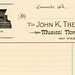 John K. Trewetz Billhead, Musical Novelties, Lancaster, Pa., 1880s