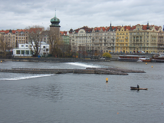 Prague, Vltava River, Mánes