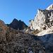 Sentiero tra i detriti di Dolomia