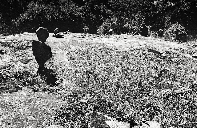 Stone Man on a Meadow