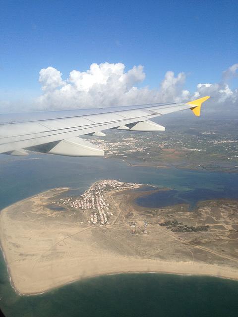 Ilha da Armona and across to Olhao