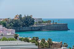 Blick vom Schiff auf Baluarte de la Candelaria
