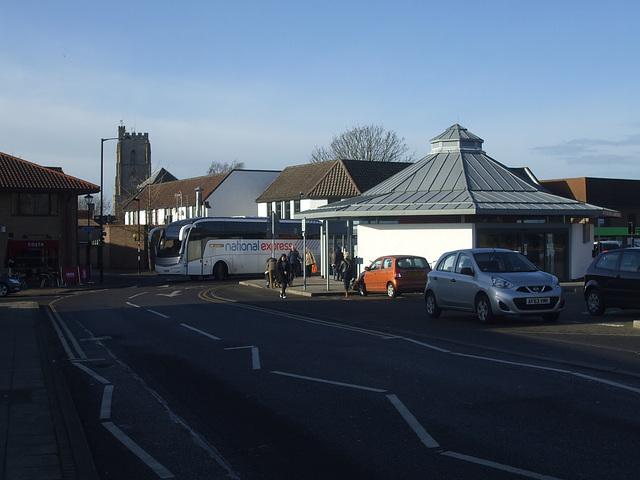 DSCF2536 Chenery FJ61 EXW arriving at Mildenhall bus station