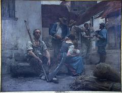 La paye des moissonneurs - Peintre Léon Lhermitte