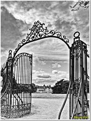 Castle gates against the light - HFF