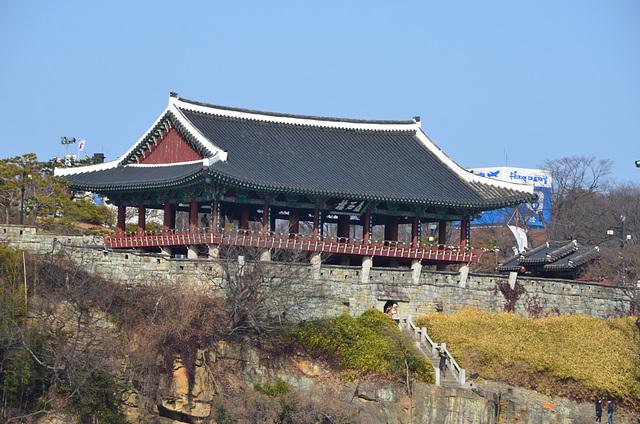 Jinju Castle on the banks of the Nam River