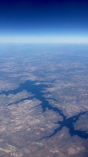 Embalse de Almendra, Spain from 36,000 feet
