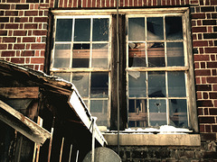 Windows with lumber
