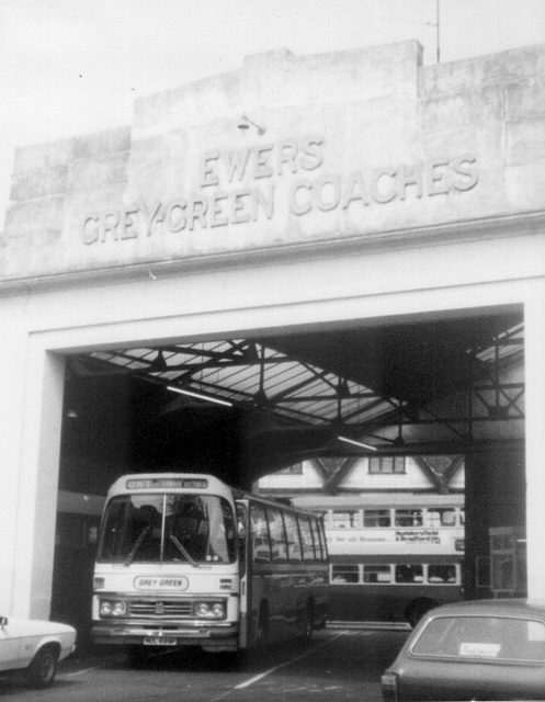 Grey-Green Coach Station, Ipswich (Old Foundry Road entrance) - June 1980