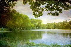 L'étang du Parc J.J. Rousseau à Ermenonville