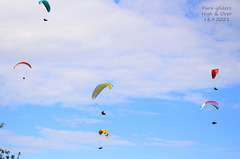Para glider pairs flying off High & Over near Seaford, Sussex - 18 9 2021