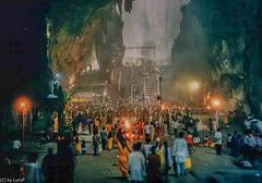 Kuala Lumpur, inside the Batu Caves at Thaipusam
