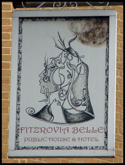 Fitzrovia Belle pub sign