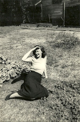 """Eunice, """"squinting at the sun"""" in the Vintage Photos Theme Park"""