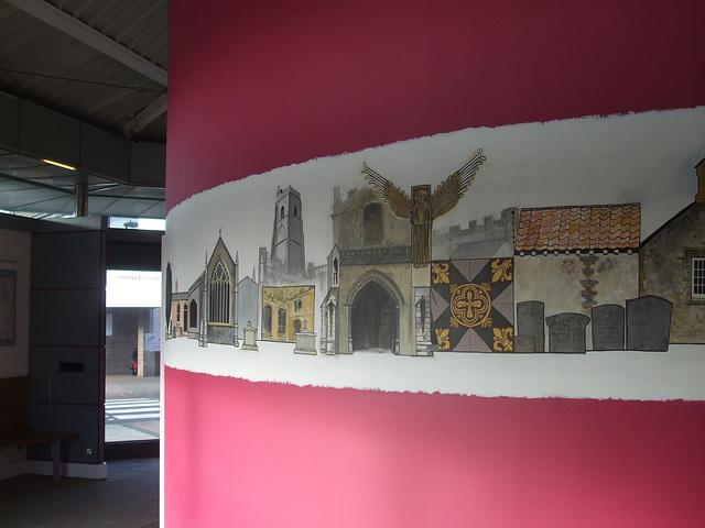 DSCF2517  Murals in Mildenhall bus station