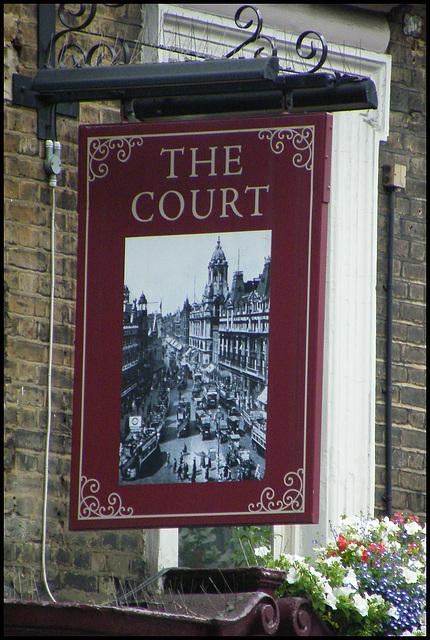 The Court pub sign