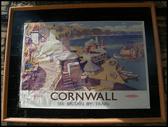 Cornwall travel poster