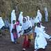 Ethiopia, Lalibela, Hurry up to the beginning of the Sunday Mass at Bete Medhane Alem Church