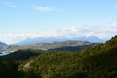 Chile, View to the South from the Slopes of Torres del Paine