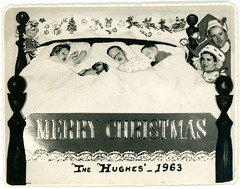 Merry Christmas from the Hughes, 1963