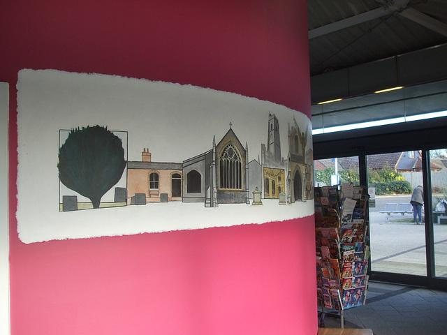 DSCF2518 Murals in Mildenhall bus station