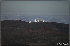 Blick zum Observatorio del Teide