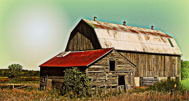 Old barn near Northport, Ontario.