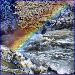 arco-íris in Godafoss waterfall - (522)
