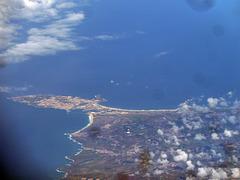 Peniche in Portugal, festgehalten auf dem Rückflug von Madeira nach Zürich