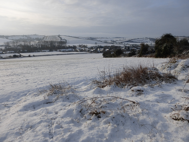 Bishopstone in the snow